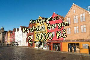 Letenky z Prahy do Bergenu za 2.400 Kč