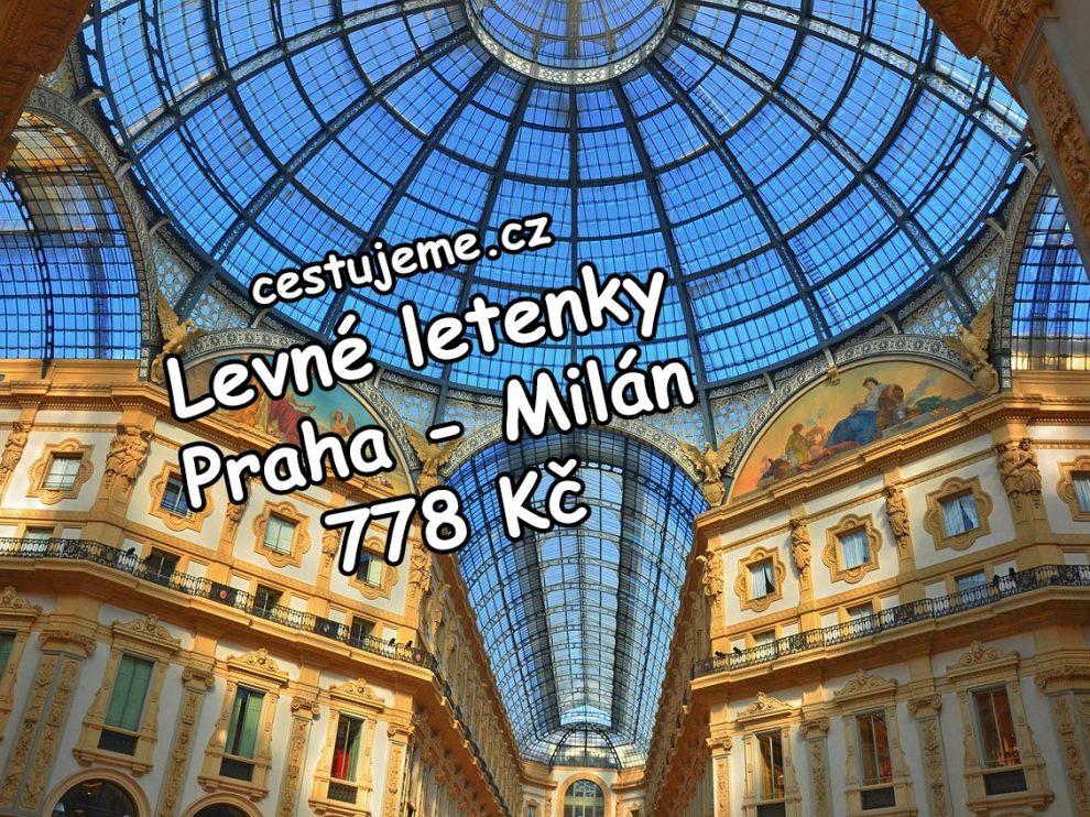 Po novém roce letecky do Milána za 778 Kč