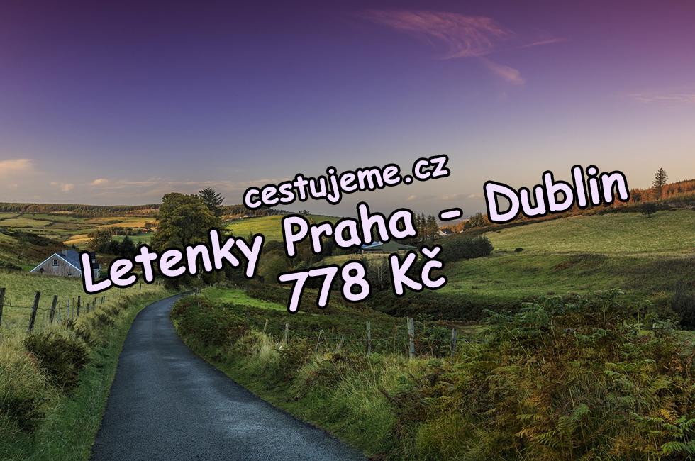 Letenky Praha - Dublin v lednu za 778 Kč