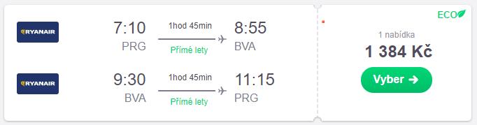Letenky Praha - Paříž do 1.400 Kč