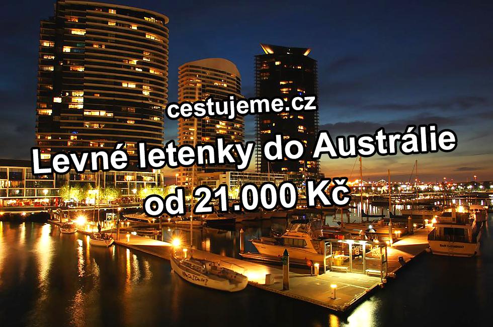 Levné letenky do Austrálie od 21.000 Kč
