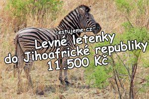 Levné letenky do Jihoafrické republiky