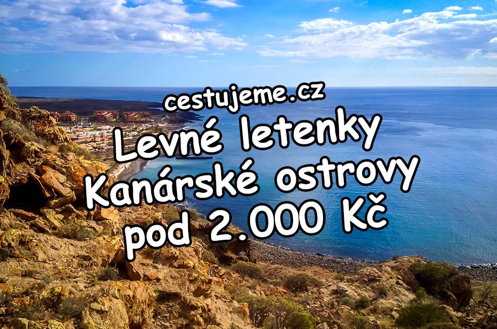 Levné letenky na kanárské ostrovy do 2.000 Kč