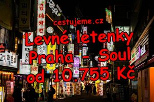 Letenky Praha - Soul od 10.755 Kč